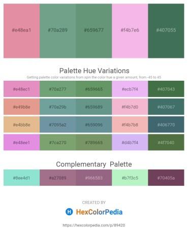 Palette image download - Pale Violet Red – Cadet Blue – Cadet Blue – Violet – Dark Slate Gray