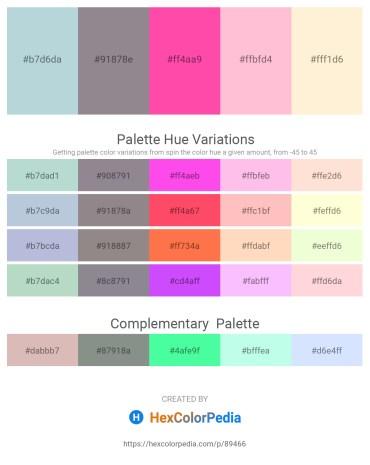 Palette image download - Light Steel Blue – Gray – Hot Pink – Pink – Papaya Whip