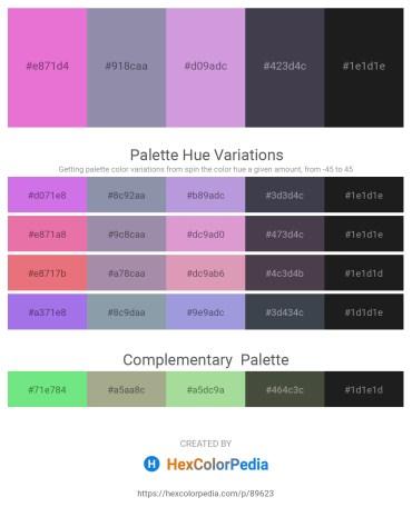 Palette image download - Violet – Light Slate Gray – Medium Purple – Pale Goldenrod – Black