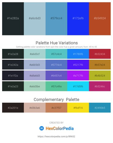Palette image download - Dark Slate Gray – Light Steel Blue – Steel Blue – Blue – Firebrick