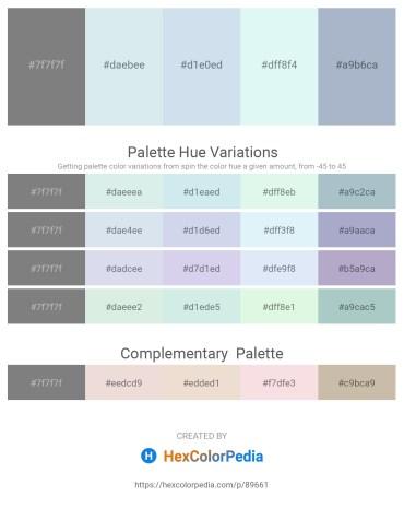 Palette image download - Gray – Light Steel Blue – Powder Blue – Pale Turquoise – Light Steel Blue