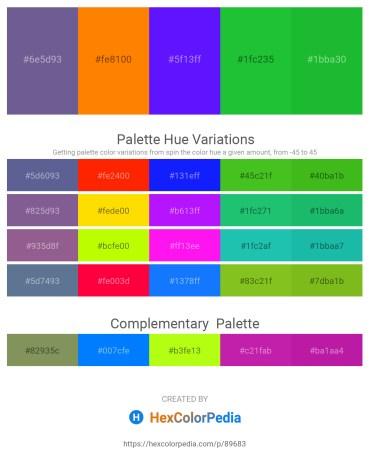 Palette image download - Slate Gray – Dark Orange – Dark Violet – Lime Green – Lime Green