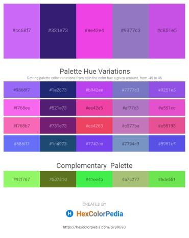 Palette image download - Medium Slate Blue – Midnight Blue – Violet – Slate Blue – Medium Orchid