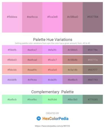 Palette image download - Pink – Violet – Pink – Rosy Brown – Gray