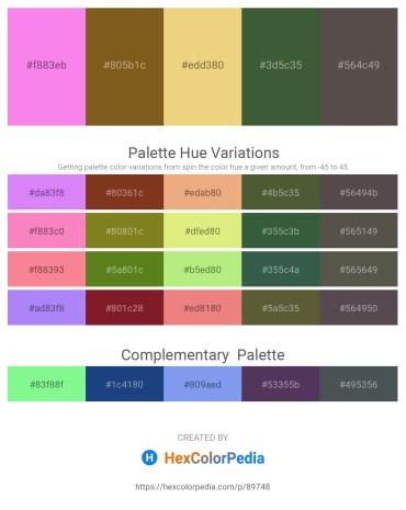 Palette image download - Violet – Saddle Brown – Khaki – Dark Olive Green – Dim Gray