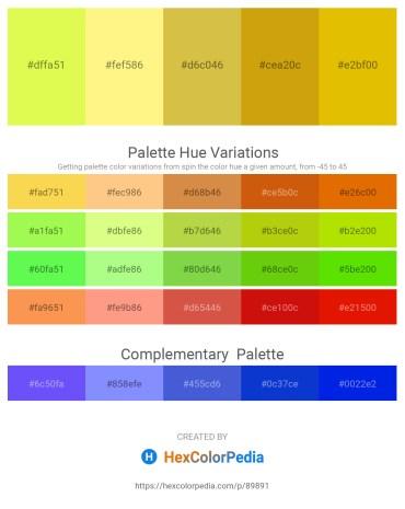 Palette image download - Green Yellow – Navajo White – Goldenrod – Dark Goldenrod – Gold