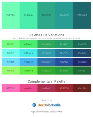 Palette image download - Aquamarine – Turquoise – Medium Sea Green – Light Sea Green – Green Yellow