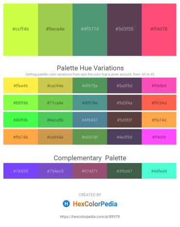 Palette image download - Green Yellow – Yellow Green – Cadet Blue – Gold – Tomato