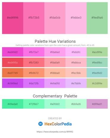 Palette image download - Light Coral – Hot Pink – Light Pink – Pink – Dark Sea Green