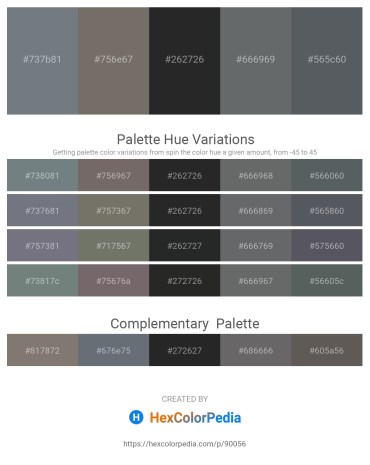 Palette image download - Slate Gray – Dim Gray – Dark Slate Gray – Slate Gray – Slate Gray
