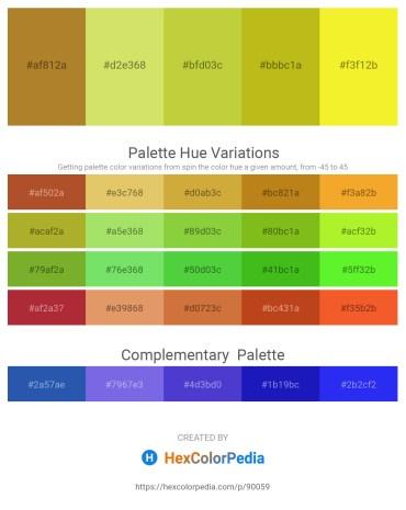 Palette image download - Peru – Khaki – Yellow Green – Goldenrod – Yellow