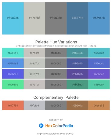 Palette image download - Turquoise – Silver – Gray – Steel Blue – Steel Blue