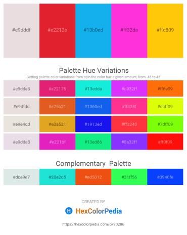 Palette image download - Thistle – Crimson – Deep Sky Blue – Magenta – Gold