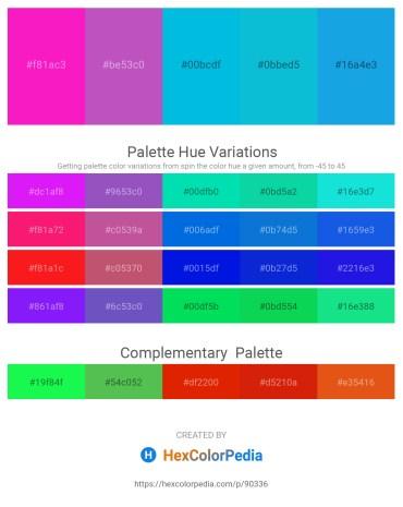Palette image download - Deep Pink – Medium Orchid – Dark Turquoise – Dark Turquoise – Deep Sky Blue