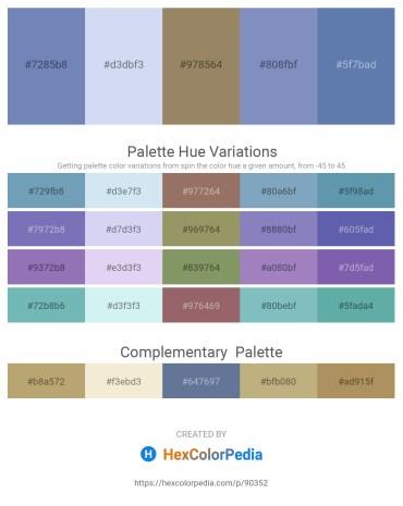 Palette image download - Steel Blue – Lavender – Gray – Dim Gray – Steel Blue