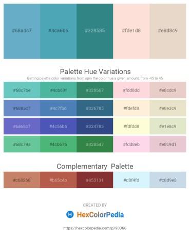 Palette image download - Cornflower Blue – Steel Blue – Sea Green – Misty Rose – Beige