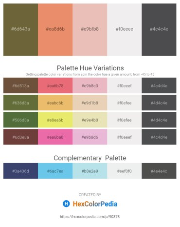 Palette image download - Dark Olive Green – Dark Salmon – Burlywood – White Smoke – Dark Slate Gray