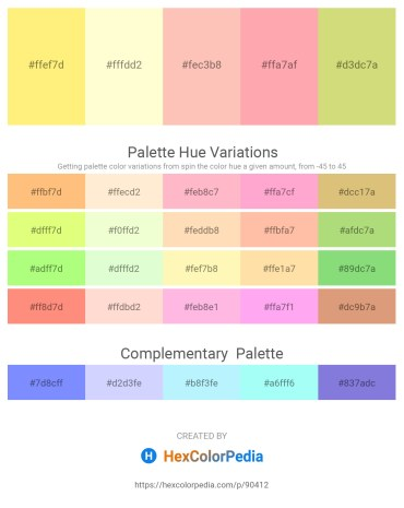 Palette image download - Navajo White – Lemon Chiffon – Light Pink – Light Pink – Burlywood