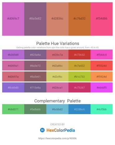 Palette image download - Orchid – Tomato – Indian Red – Peru – Salmon