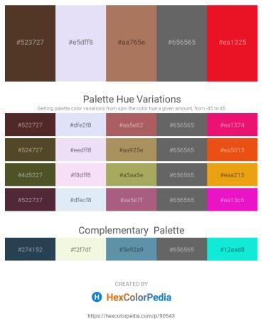 Palette image download - Dark Slate Blue – Lavender – Rosy Brown – Dim Gray – Crimson