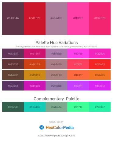 Palette image download - Sienna – Crimson – Rosy Brown – Hot Pink – Deep Pink