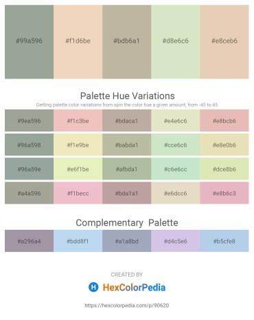 Palette image download - Dark Sea Green – Pale Goldenrod – Light Steel Blue – Beige – Pale Goldenrod