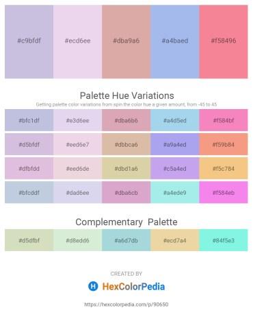 Palette image download - Light Steel Blue – Lavender – Tan – Sky Blue – Light Coral