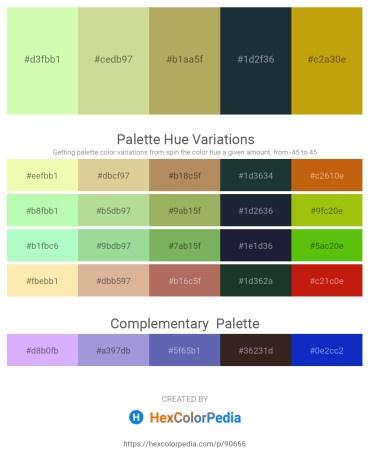 Palette image download - Pale Green – Tan – Dark Khaki – Dark Slate Gray – Dark Goldenrod