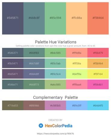 Palette image download - Slate Gray – Slate Gray – Dark Sea Green – Light Salmon – Salmon