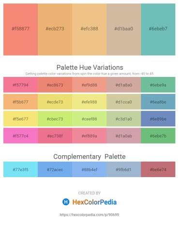 Palette image download - Salmon – Dark Salmon – Khaki – Tan – Medium Aquamarine
