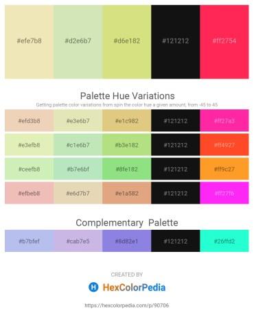 Palette image download - Pale Goldenrod – Beige – Burlywood – Black – Tomato