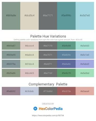 Palette image download - Light Slate Gray – Light Gray – Slate Gray – Cadet Blue – Light Blue
