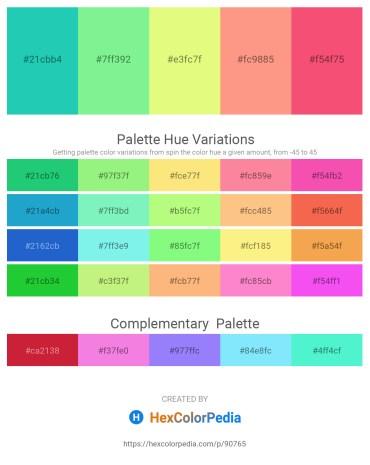 Palette image download - Light Sea Green – Light Green – Khaki – Light Salmon – Salmon