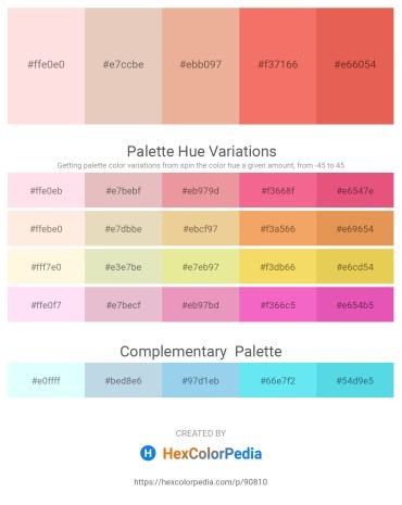 Palette image download - Misty Rose – Tan – Dark Salmon – Salmon – Light Coral