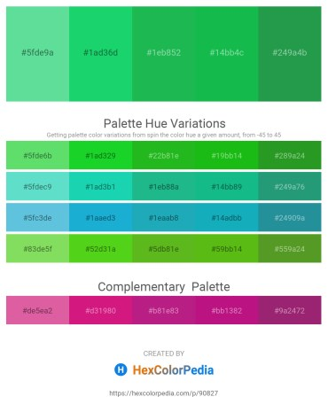 Palette image download - Medium Aquamarine – Turquoise – Lime Green – Lime Green – Sea Green
