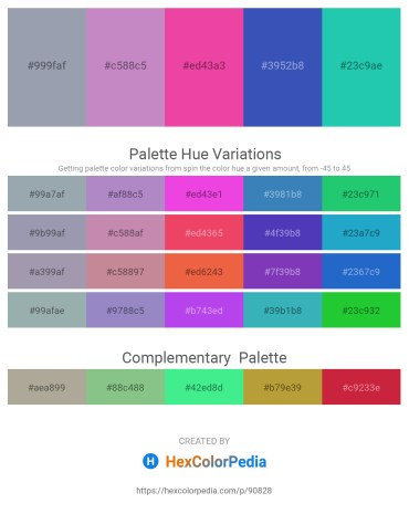 Palette image download - Light Slate Gray – Plum – Deep Pink – Steel Blue – Light Sea Green