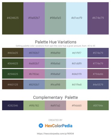 Palette image download - Dark Olive Green – Light Slate Gray – Dark Sea Green – Lavender – Dark Slate Blue