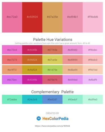 Palette image download - Light Coral – Firebrick – Peru – Light Coral – Pink