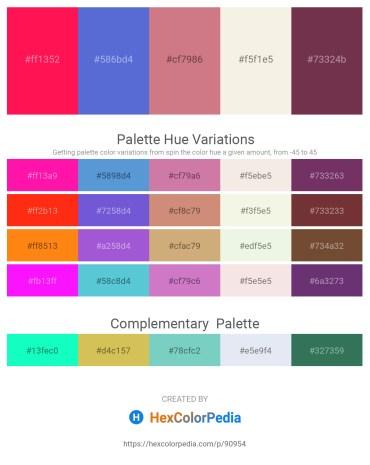 Palette image download - Deep Pink – Slate Blue – Pale Violet Red – Beige – Midnight Blue