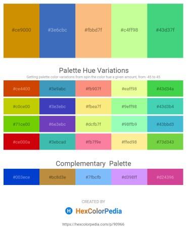 Palette image download - Dark Goldenrod – Steel Blue – Light Salmon – Pale Green – Medium Sea Green