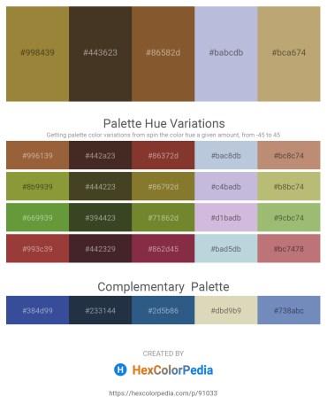 Palette image download - Slate Blue – Lavender – Sienna – Light Steel Blue – Dark Khaki