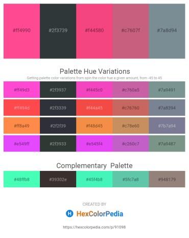 Palette image download - Hot Pink – Dark Slate Gray – Deep Pink – Indian Red – Light Slate Gray