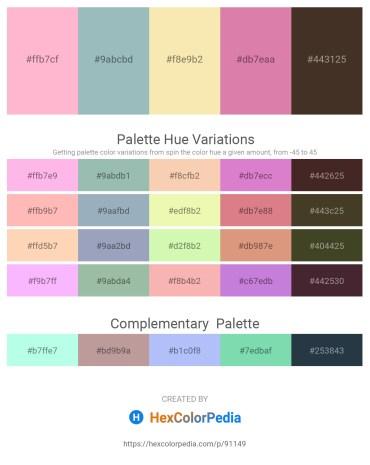 Palette image download - Pink – Dark Sea Green – Wheat – Pale Violet Red – Hot Pink