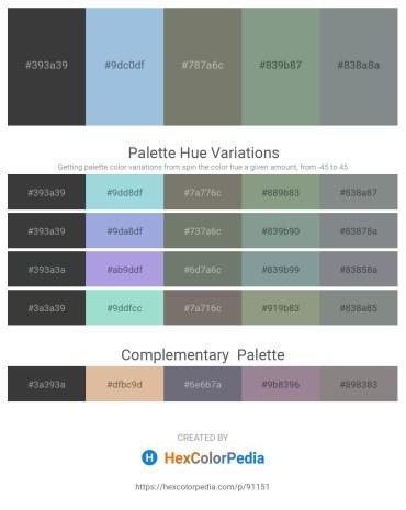 Palette image download - Dark Slate Gray – Light Blue – Dim Gray – Dark Sea Green – Slate Gray