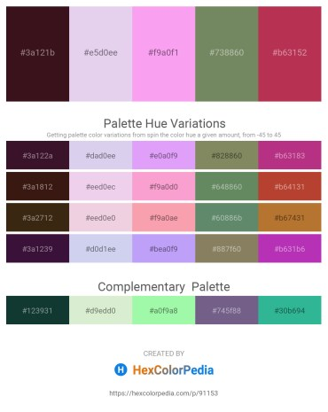 Palette image download - Midnight Blue – Lavender – Violet – Dark Sea Green – Brown