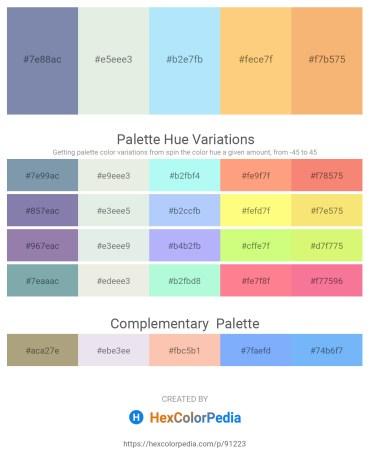 Palette image download - Light Slate Gray – Beige – Light Sky Blue – Midnight Blue – Sandy Brown