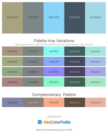 Palette image download - Light Slate Gray – Slate Gray – Light Sky Blue – Dark Slate Gray – Light Blue