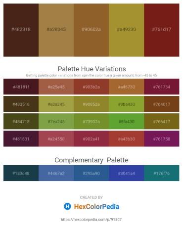 Palette image download - Blue Violet – Peru – Sienna – Peru – Saddle Brown