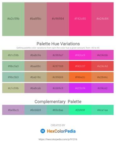 Palette image download - Dark Sea Green – Rosy Brown – Indian Red – Deep Pink – Pale Violet Red