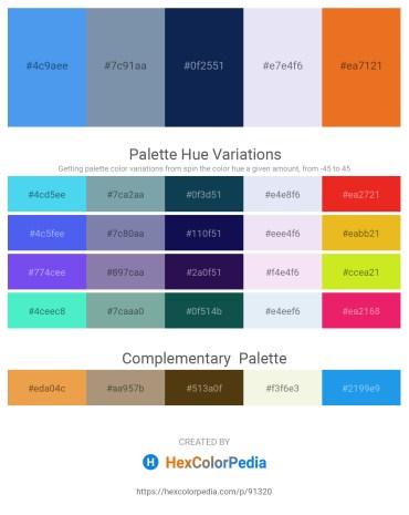 Palette image download - Cornflower Blue – Light Slate Gray – Midnight Blue – Lavender – Chocolate